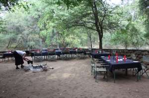 Campfire Mkhaya Stone Camp