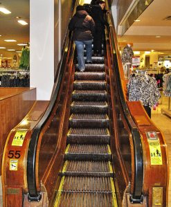 Historic wooden escalator Macy's - Herald Square